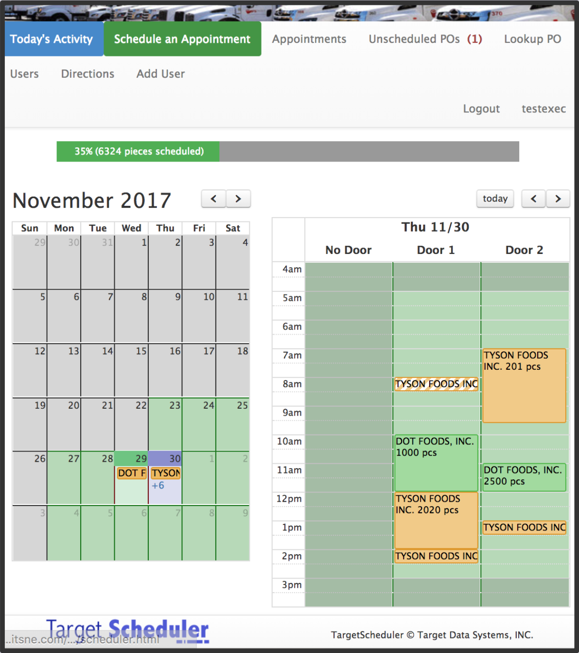 target scheduler